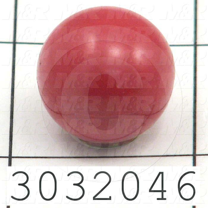 Knobs, Ball, Threaded Hole, 1/4-20 Thread Size, Plastic Material