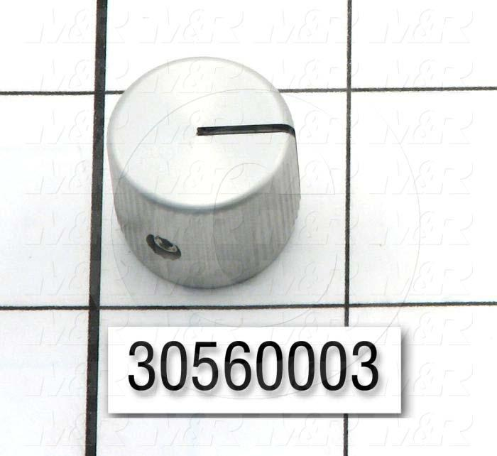 "Knobs, Round, Blind Hole, 0.250"" Hole Diameter, 0.63"" Knob Length, 0.75 in. Outside Diameter, Steel Material"