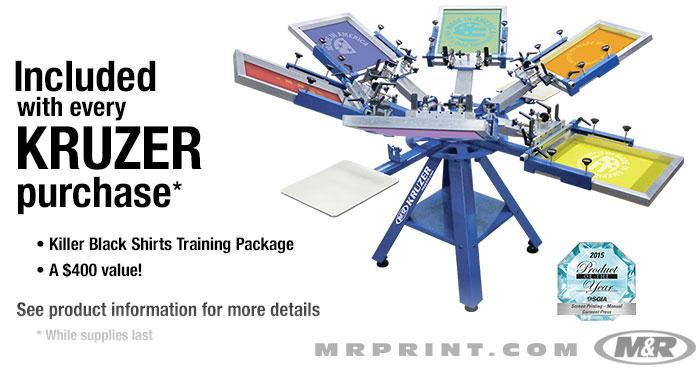 c865ea77f KRUZER™ Manual Screen Printing Press :: Textile Screen Printing ...