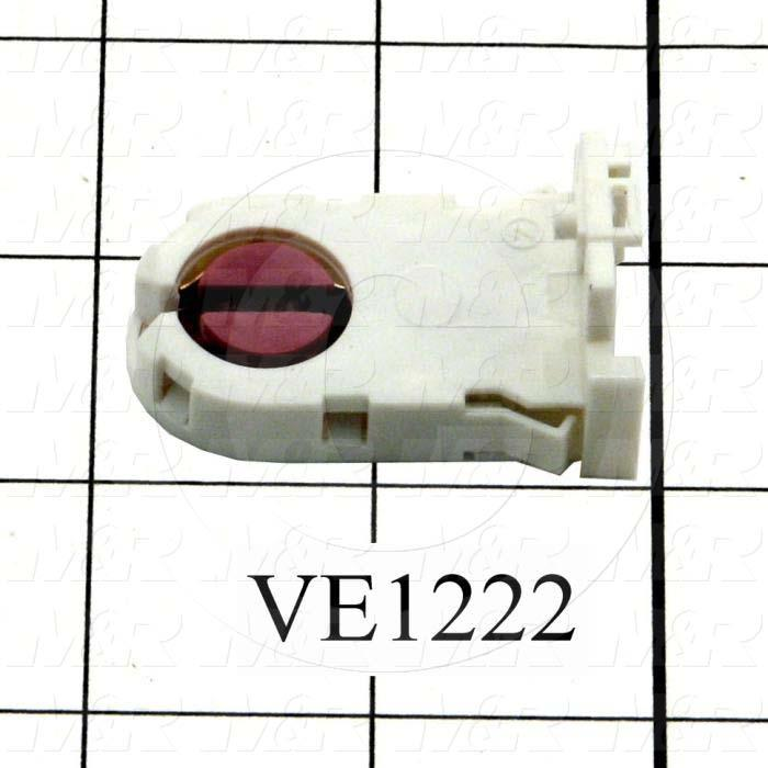 Lamp Holder, With Red And 4 Connecting Holes, Use For Fluorescent Lamp - Details