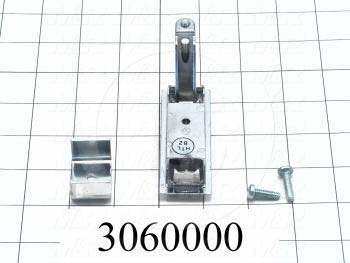"Latches, Compression Trigger Latch, 0.75""-1.25"" Latching Distance, 4.00 in. Overall Length, 1.18"" Width, 1.875"" Thickness, Steel, Chrome Finish"