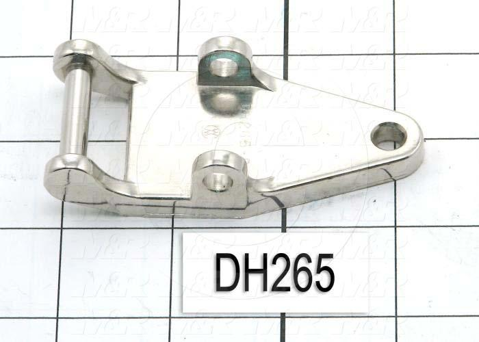 "Latches, DH140 Copy Latch Assembly, Strike, 0.75""-1.25"" Latching Distance, 3.38 in. Overall Length, 1.50 in. Width, 0.25 in. Thickness, Brass, Nickel Finish"