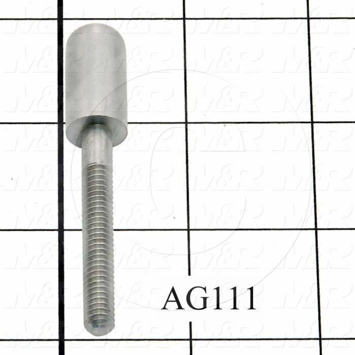 "Latches, Frame Latch Assembly AG109, Plunger, 0.75""-1.25"" Latching Distance, 2.88"" Overall Length, Steel, Hard Chromium Finish, Case Harden 40-50C"