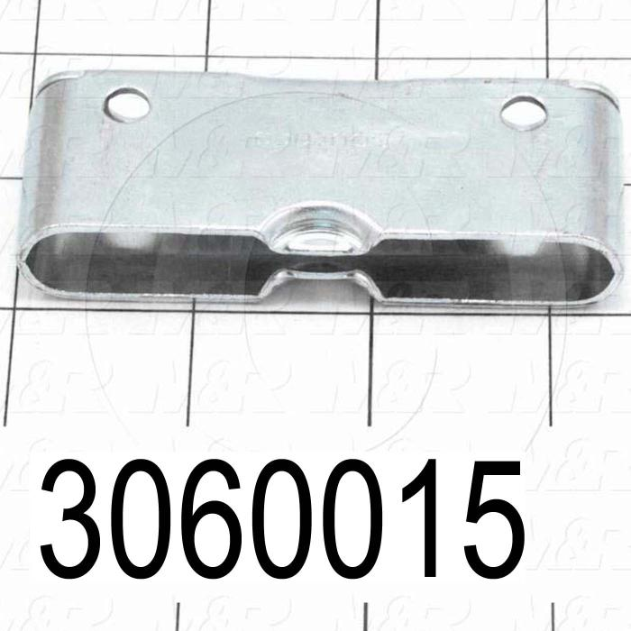 "Latches, Receptacle,  works with Part No. 3060014, Concealed Draw Latch, 0.25"" Adjustable Latching Distance, 3.38 in. Overall Length, 1.27"" Width, 0.63"" Thickness, Steel, Zinc Finish"