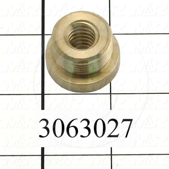 "Lead Screw and Nut, Component : Nut, Type : ACME Trapezoid Lead Screw, No. of Starts 1, Screw Size 1/2-10 RH, Lead 0.100"", Pitch 0.100"", Nut Diameter 1.125"", Nut Length 0.75"""