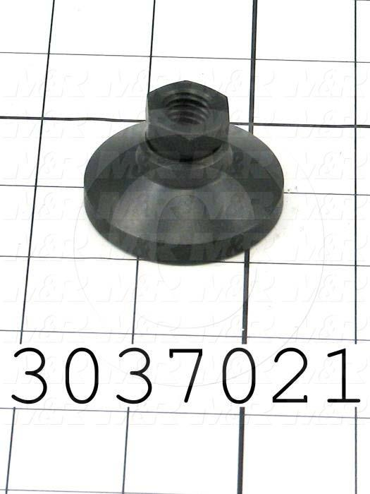 "Leveling Devices, Threaded Swivel Socket Type, 1/2-13 Thread Size, Steel Pad Material, 1.880"" Pad Diameter, 1.130"" Height"