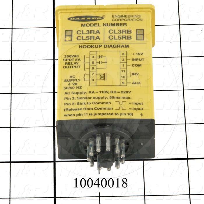 Logic Level Input Module, 105-130VAC/12-18VDC, SPDT, 12 Timing Functions