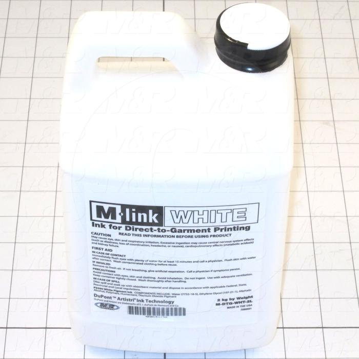 M-Link Ink, White Color, 2 Liters Size