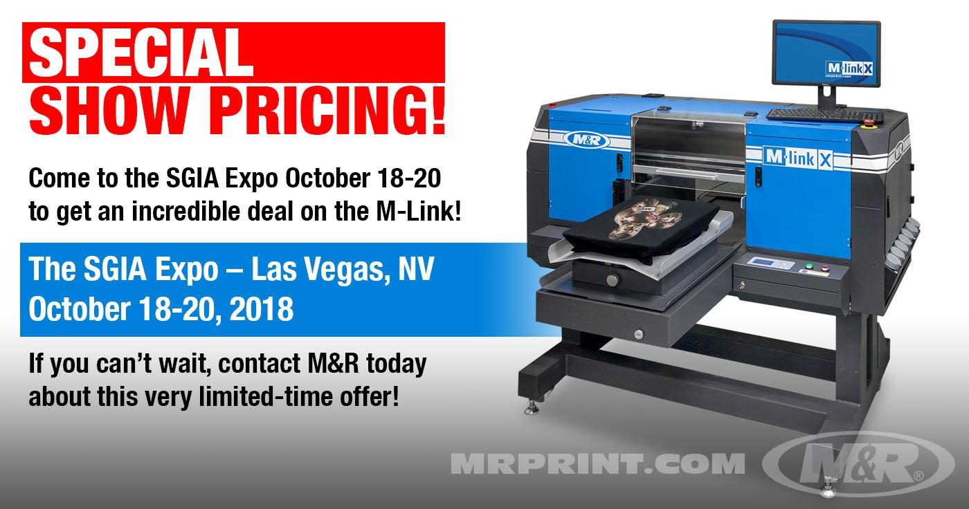 Special show pricing at SGIA