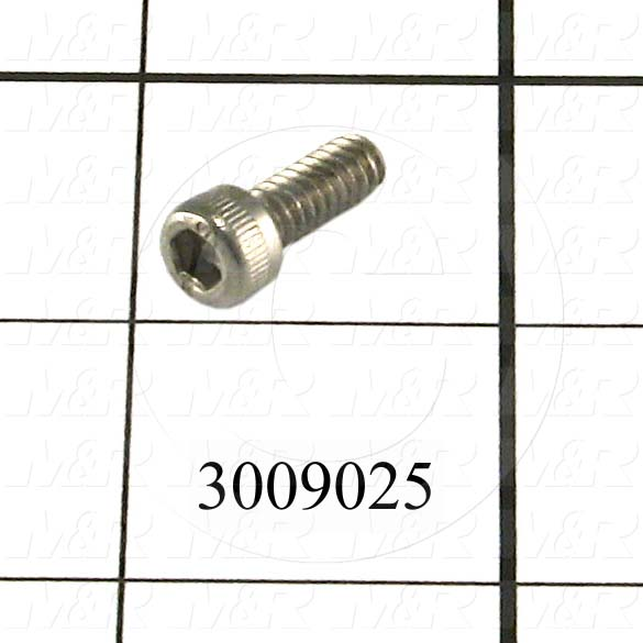 Machine Screws, Socket Head, Stainless Steel, Thread Size 10-24, Screw Length 1/2 in., Full Thread Length, Right Hand, Plain