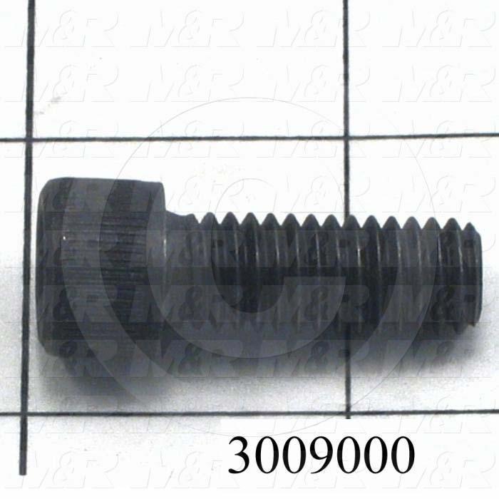 "Machine Screws, Socket Head, Steel, Thread Size 3/8-16, Screw Length 1"", Full Thread Length, Right Hand, Black Oxide"