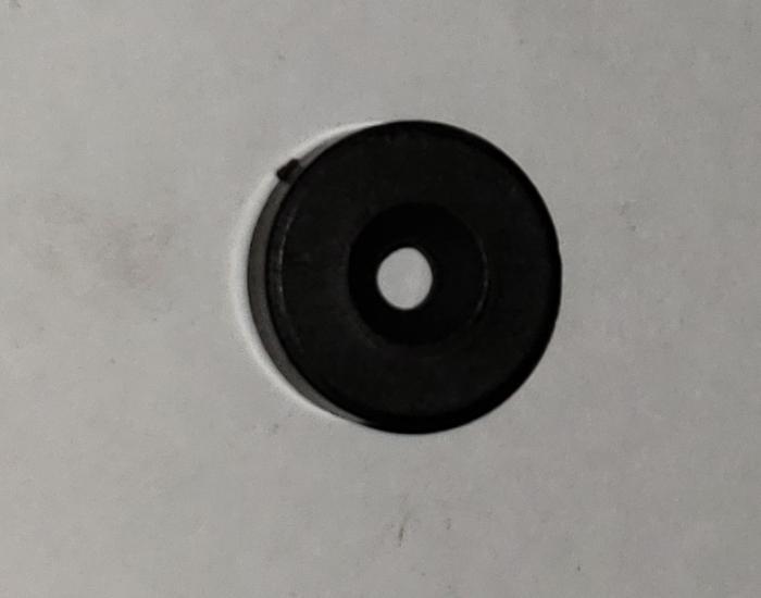Magnet, Round Type, 6.5 mm Thickness, 20 mm Diameter, -25c To +130c Temperature Resistance Notes, Strontium Ferrite Material