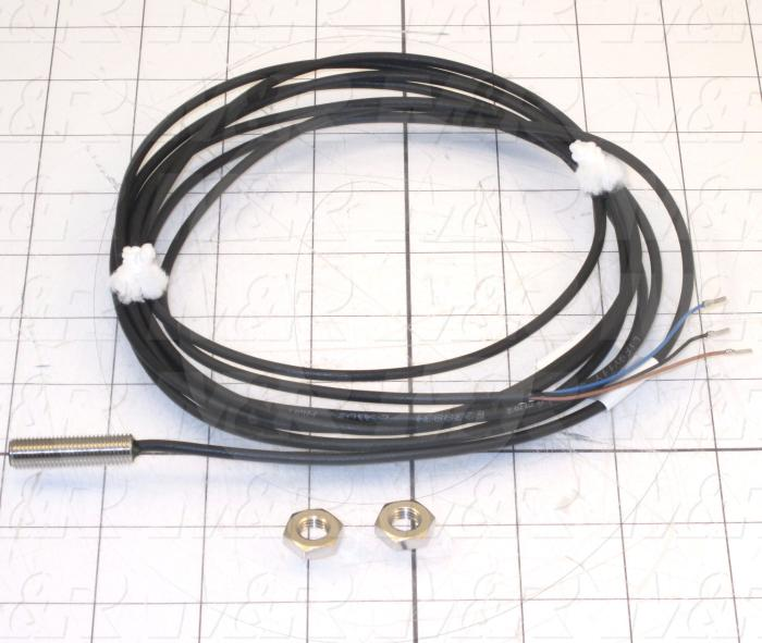 Magnetic Proximity Switch, 8mm Barrel, 3 Wire, NPN, Normally Open, With 3m Cable, 10-30VDC