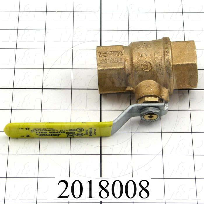 Manual Gas Valve, Thread Size 1 NPT, Max. Pressure 125 Psi, Material Brass - Details