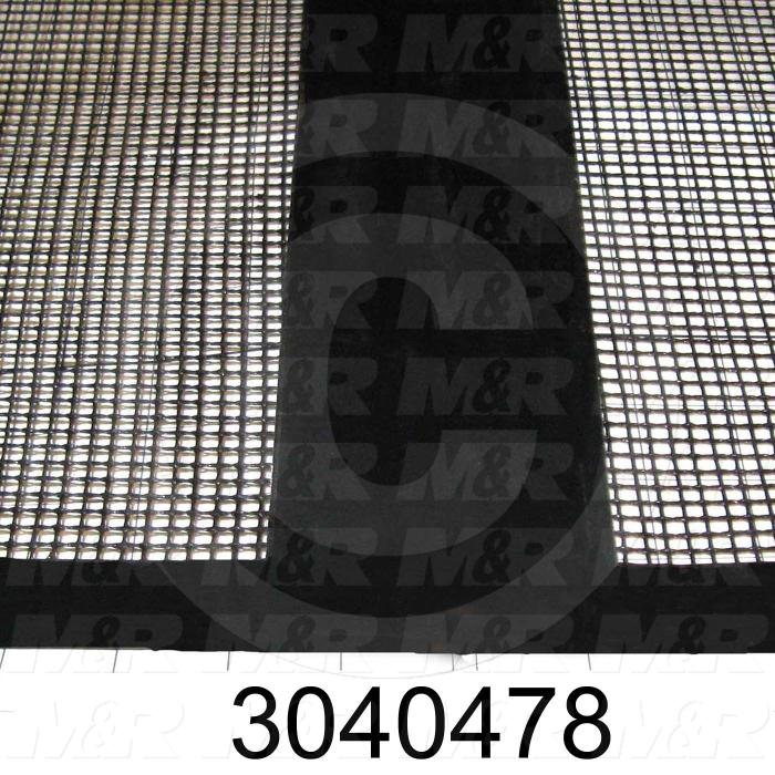 "Mesh Conveyor Belt, Fiberglass, Black, With Flap, 24"" Width, 180 in. Length"