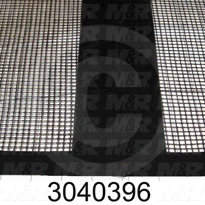 "Mesh Conveyor Belt, Fiberglass, Black, With Flap, 24"" Width, 238 in. Length"