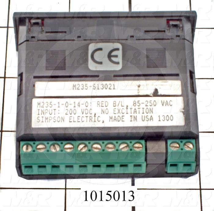 Meter, Digital, 0-199VDC, 7-Segment LCD, Red Backlight, 85-235VAC