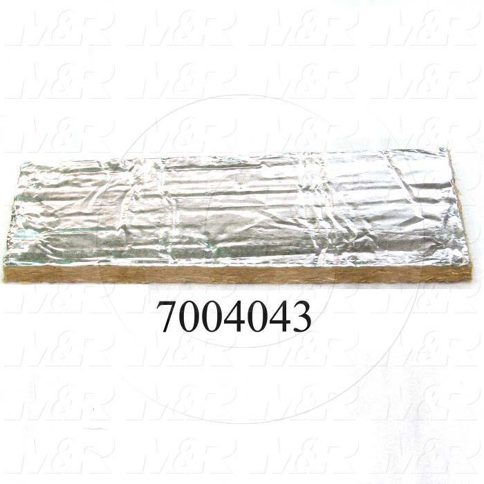 """Mineral Wool, Aluminum Facing Type, 1 in. Height, 24.00"""" Width, 48 in. Length"""