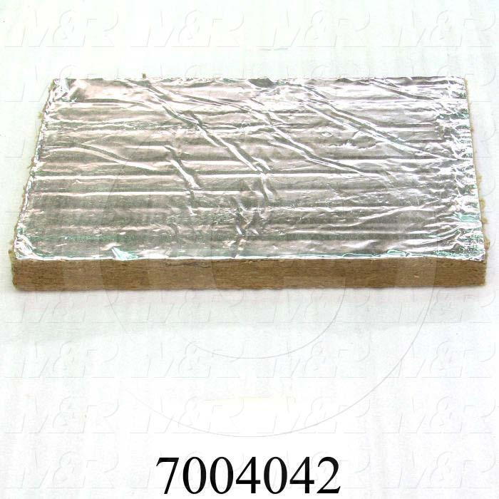 """Mineral Wool, Aluminum Facing Type, 2.00 in. Height, 24.00"""" Width, 48 in. Length"""