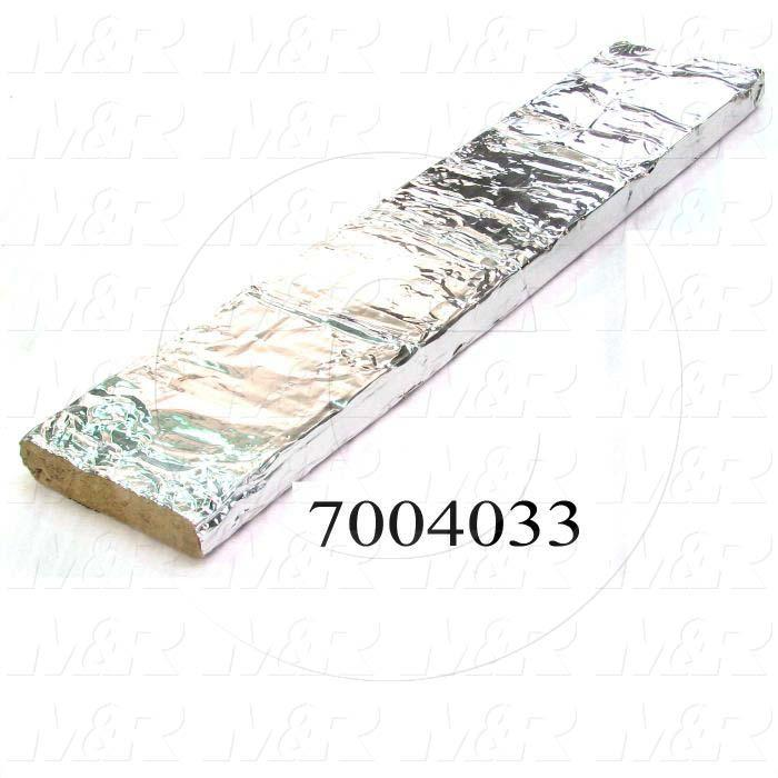Mineral Wool, Aluminum Facing Type, 3 in. Height, 14 in. Width, 68 in. Length, Aluminum On 4 Sides; Aluminum Free Ends