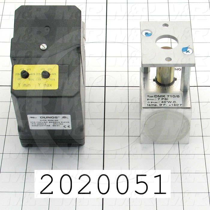 "Modulators, Thread Size 1"" NPT, Max. Pressure 0.5 Psi, Voltage 110V 1PH, Control Signal 4-20mAmp"