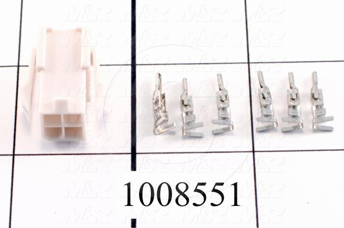 Motor Connector, Power Connector Kit, For HC-KFS Motors