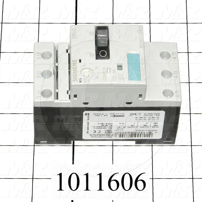 Motor Starter Protector, 1.8A Minimum Current, 2.5A Maximum Current, 1.5 HP @ 3PH 480VAC