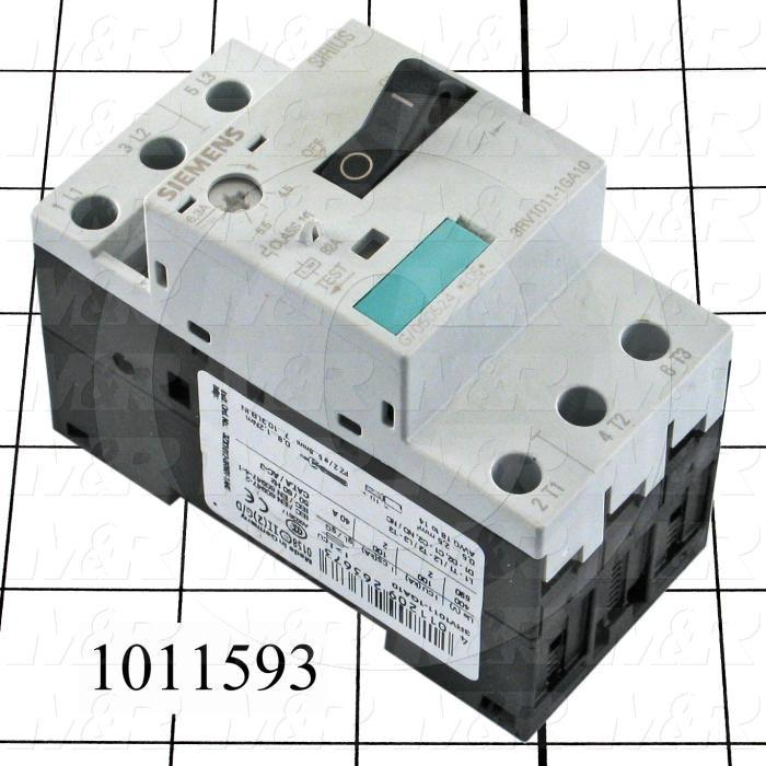 Motor Starter Protector, 4.5A Minimum Current, 6.3A Maximum Current, 5 HP @ 3PH 480VAC