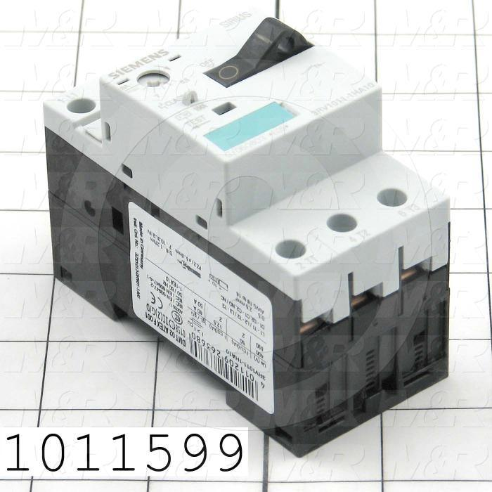 Motor Starter Protector, 5.5A Minimum Current, 8A Maximum Current, 5 HP @ 3PH 480VAC