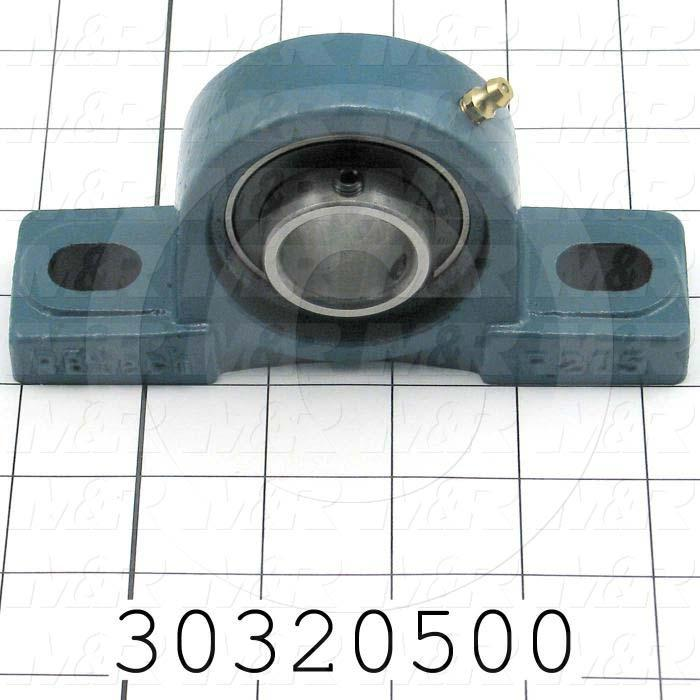 "Mounted Bearing Units, Ball, Pillow Block Housing Type, 1.00"" Inside Diameter, Sealed Seal Type, 3/8"" Bolt Mounting Holes, 5.50 in. Overall Length, 2.78"" Height, 1.50 in. Width"