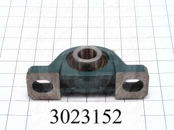 "Mounted Bearing Units, Ball, Pillow Block Housing Type, 1.00"" Inside Diameter, Slot 1/2"" X 7/16"" Mounting Holes, 6.25"" Overall Length, 3.25"" Height, 1.63""  Base Width"