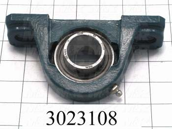 "Mounted Bearing Units, Ball, Pillow Block Housing Type, 1.25 in. Inside Diameter, Slot 1/2"" X 7/16"" Mounting Holes, 6.06"" Overall Length, 3.09"" Height, 1.50 in. Width"