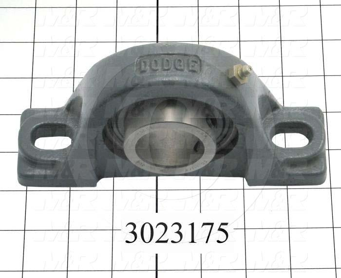 "Mounted Bearing Units, Ball, Pillow Block Housing Type, 1.50 in. Inside Diameter, 1/2"" Bolt Mounting Holes, 1.94"" Shaft Height"