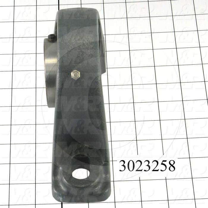 "Mounted Bearing Units, Ball, Pillow Block Housing Type, 2.19"" Inside Diameter, Slot 5/8"" X 15/32"" Mounting Holes, 8.38"" Overall Length, 4.94"" Height, 2.25"" Base Width"