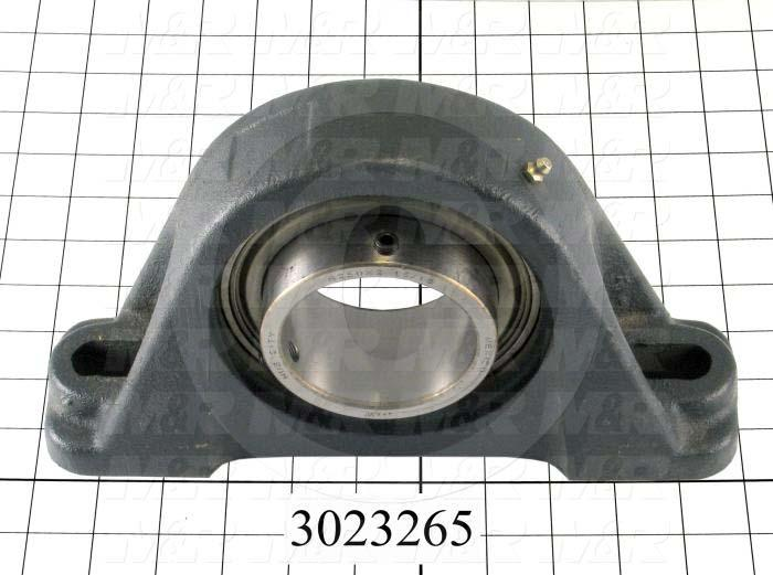 "Mounted Bearing Units, Ball, Pillow Block Housing Type, 2.94"" Inside Diameter, Slot 3/4""X 7/8"" Mounting Holes, 11.25"" Overall Length, 6.50"" Height, 3.00"" Base Width"