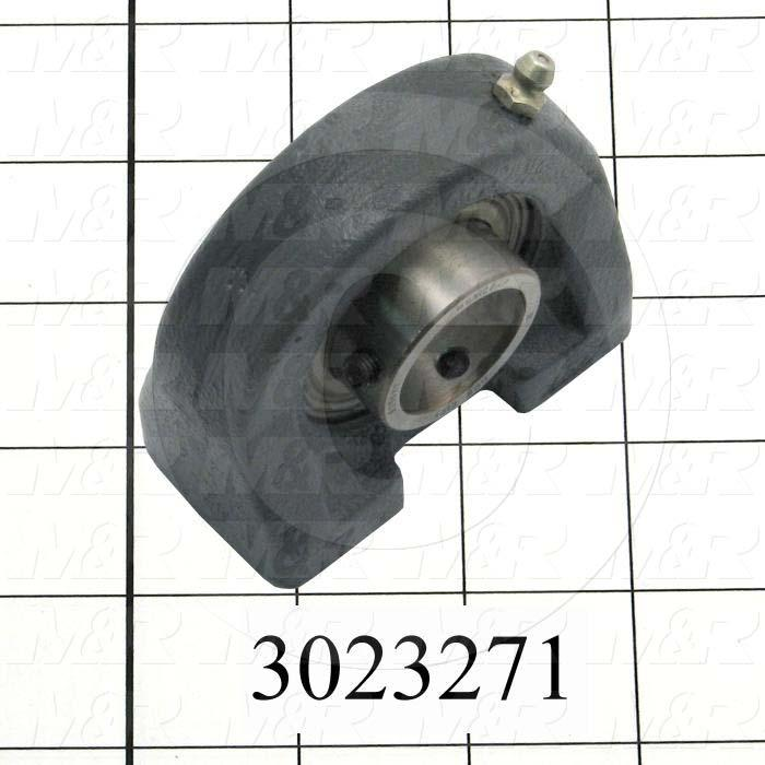 "Mounted Bearing Units, Ball, Pillow Block Tapped Base Housing Type, 1.00"" Inside Diameter, Tapped 3/8-16 X 1/2"" Mounting Holes, 3.00 in. Overall Length, 2.81"" Height, 1.51"" Base Width"
