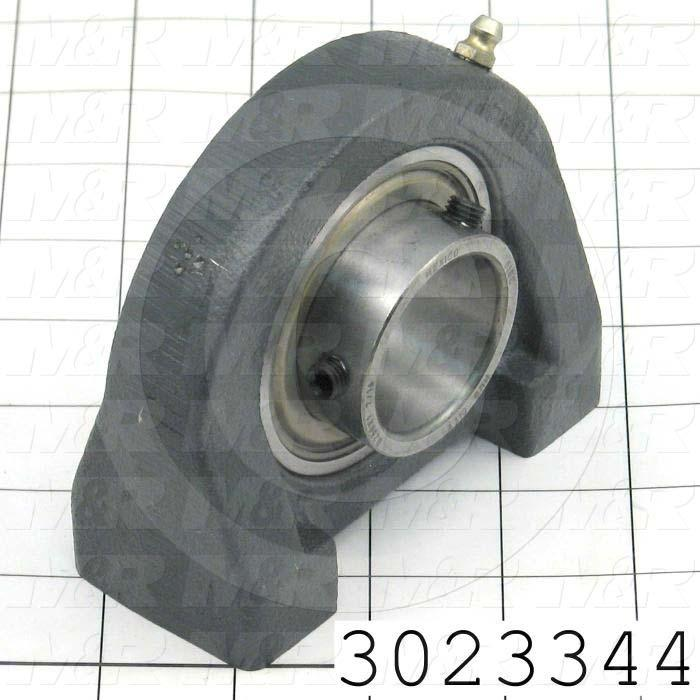 "Mounted Bearing Units, Ball, Pillow Block Tapped Base Housing Type, 1.438"" Inside Diameter, Tapped 1/2-13 x 3/4"" Mounting Holes, 1.88"" Overall Length, 3.75"" Height, 1.88"" Base Width"