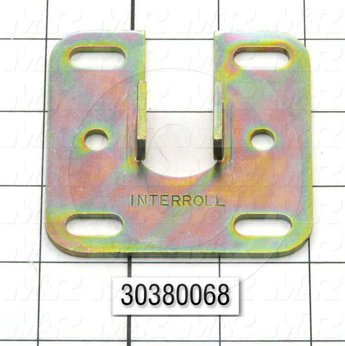 """Mounting Brackets, Function Drive Roller, AI100 & IC120 INCLINE CONVEYOR M&R Machines, 3.00"""" Length, 3.00 in. Width, 0.50 in. Height, 12 GA Thickness, Steel Material, Zinc Plated Finish"""
