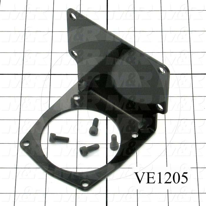 """Mounting Brackets, Function Motor Mounting, Helios M&R Machines, 3.63"""" Length, 4.313"""" Width, 3.75"""" Height, 12 GA Thickness, Steel Material, Zinc Plated Finish"""