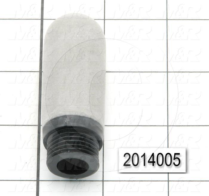 Muffler, 1/2 NPT Port Size IN, 25 dB Noise Reduction