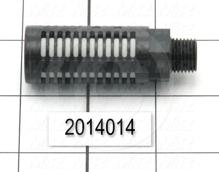 Muffler, 1/4 NPT Port Size IN, 25 dB Noise Reduction, 15 sqmm Effective Area
