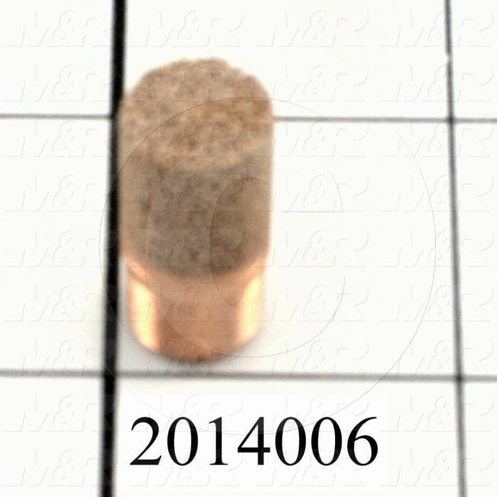 Muffler, 1/8 NPT Port Size IN, 16 dB Noise Reduction