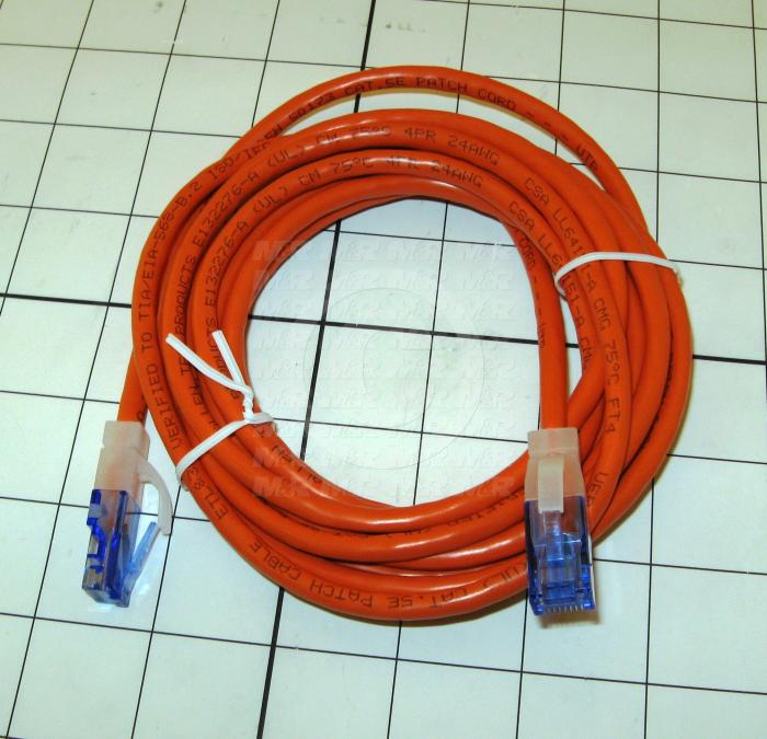 Network Cable, CAT5E, Straight Through, 10', Shielded, Orange