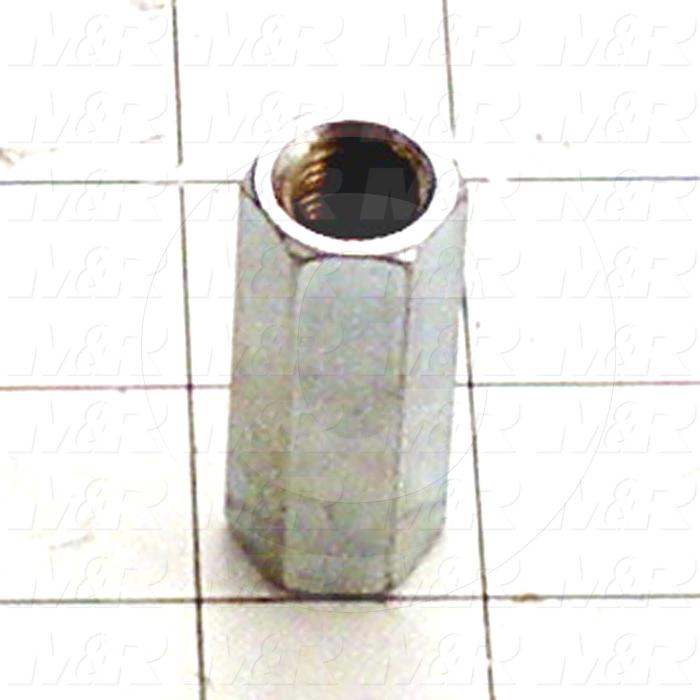 "Nuts, Coupling, 1/2-20 Thread Size, Right Hand, 1.75"" Thickness, Alloy Steel, Zinc"