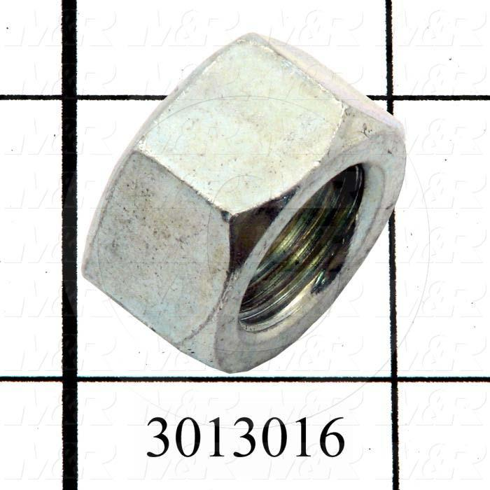 Nuts, Finish Hex, 5/8-18 Thread Size, Right Hand, Steel, Zinc
