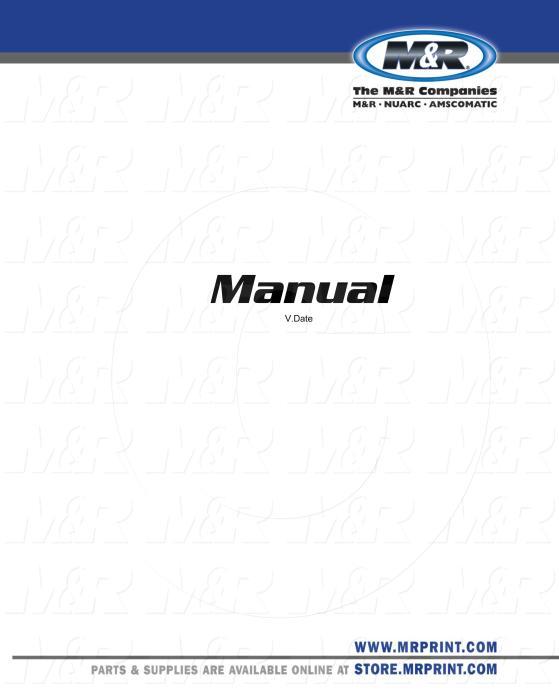 Owners Manual, Equipment Type : Belt Printer