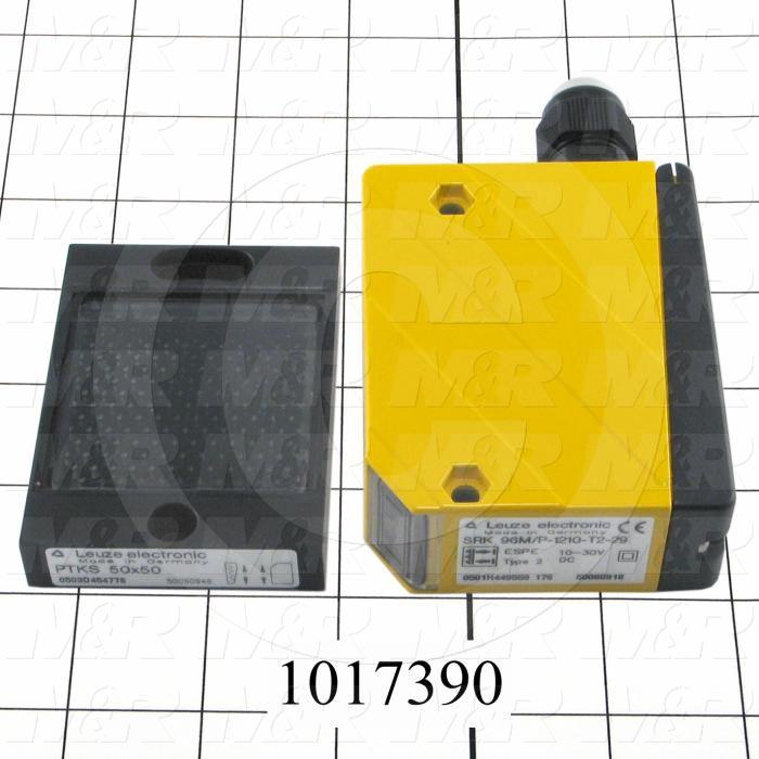 Photoeletric Sensor, 4mm threaded, Retro-reflective, 0.5-6m Sensing Range, 10-30VDC, Safety Category 2, with Reflector