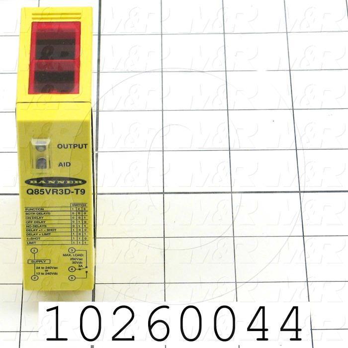 Photoeletric Sensor, Rectangular, Diffuse, 250mm Sensing Range, SPDT Relay, 24-240VAC/12-240VDC