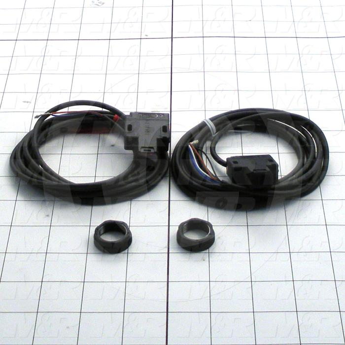 Photoeletric Sensor, Seft-Contained, 4mm threaded, Through-Beam, 20m Sensing Range, 10-30VDC