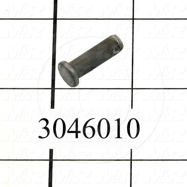 "Pin, Clevis Pin, 0.25 in. Diameter, 0.766"" Overall Length, Steel Material"